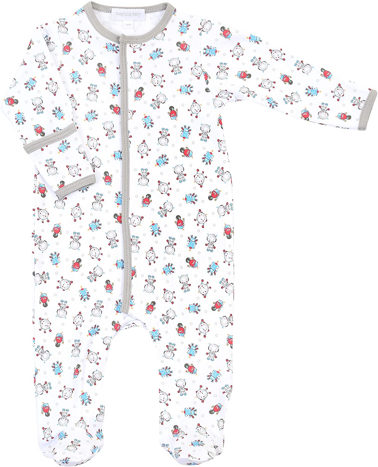 Magnolia Baby Baby Boy All Geared Up Printed Footie Blue