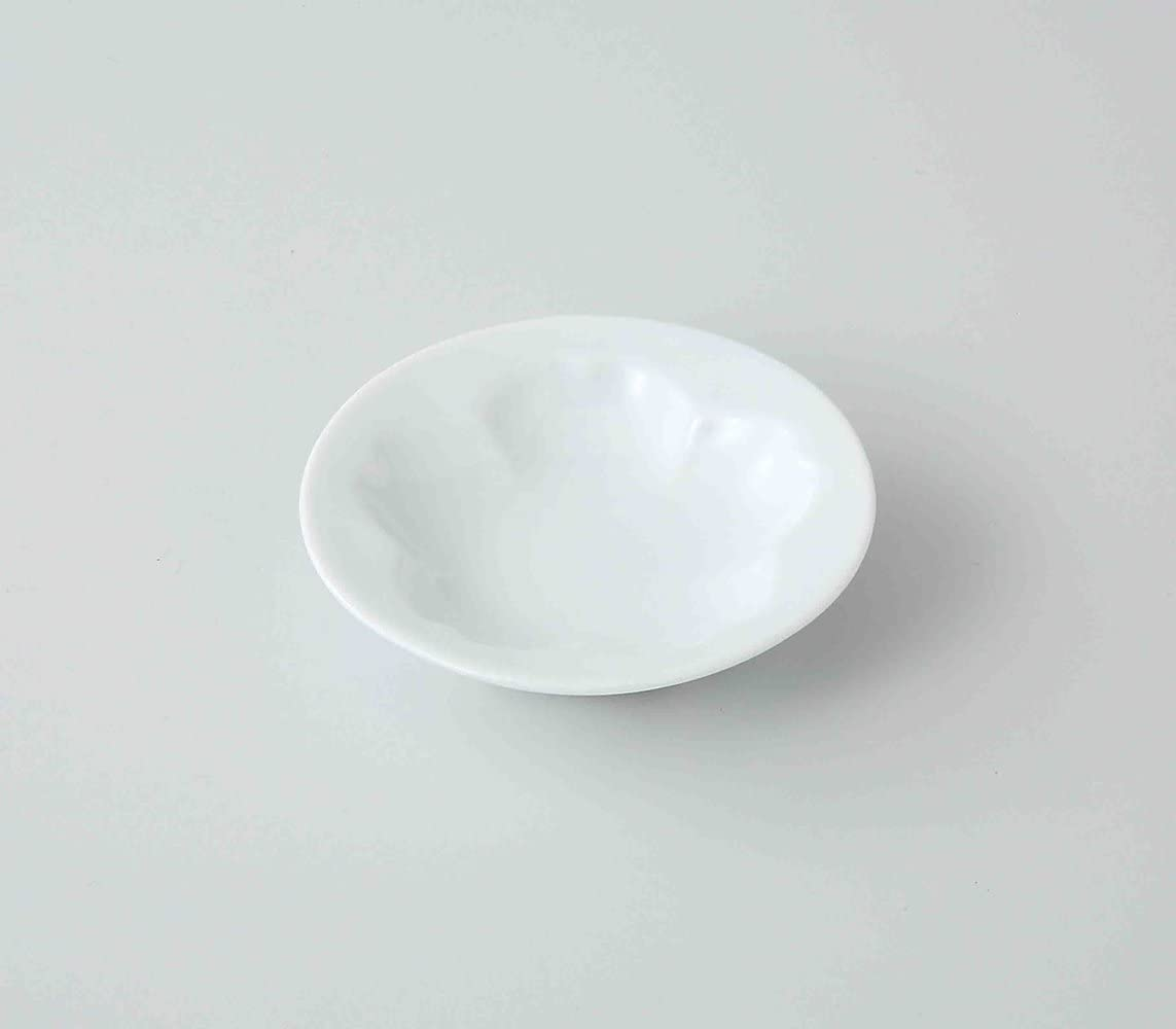TOKYO MATCHA SELECTION - SAKURA Dish Plate : 2 size - Japanese Hasami White Porcelain for Diiner Teatime [Standard ship by SAL with Tracking number & Insurance] (S: Φ7.5 × 1.5cm)