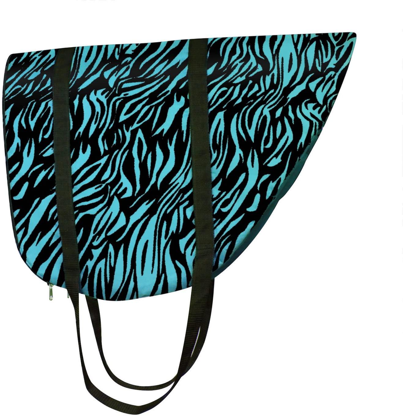 Perris Leather Zebra Turquoise Nylon Saddle Bag