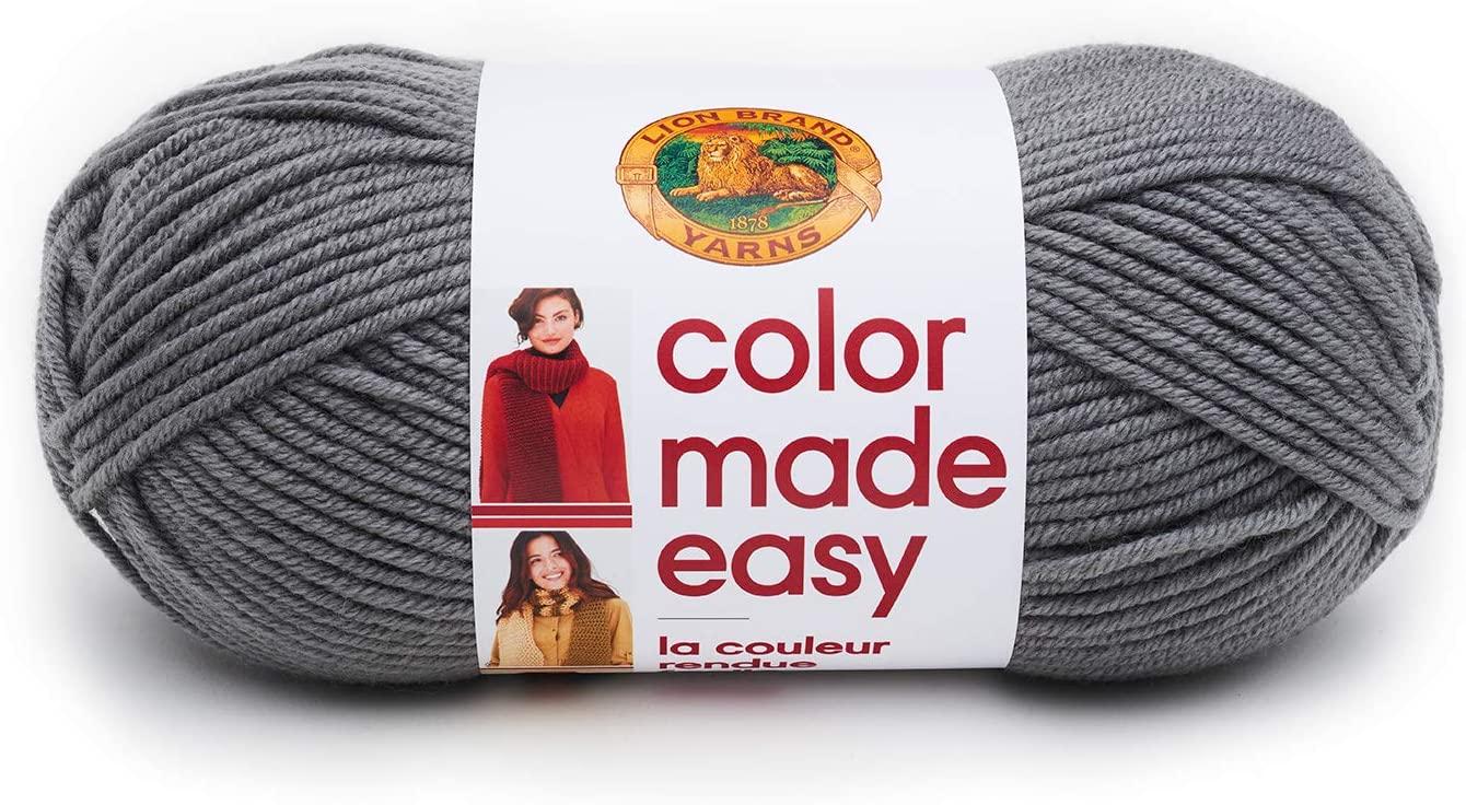 Lion Brand Yarn Color Made Easy Yarn, Basalt