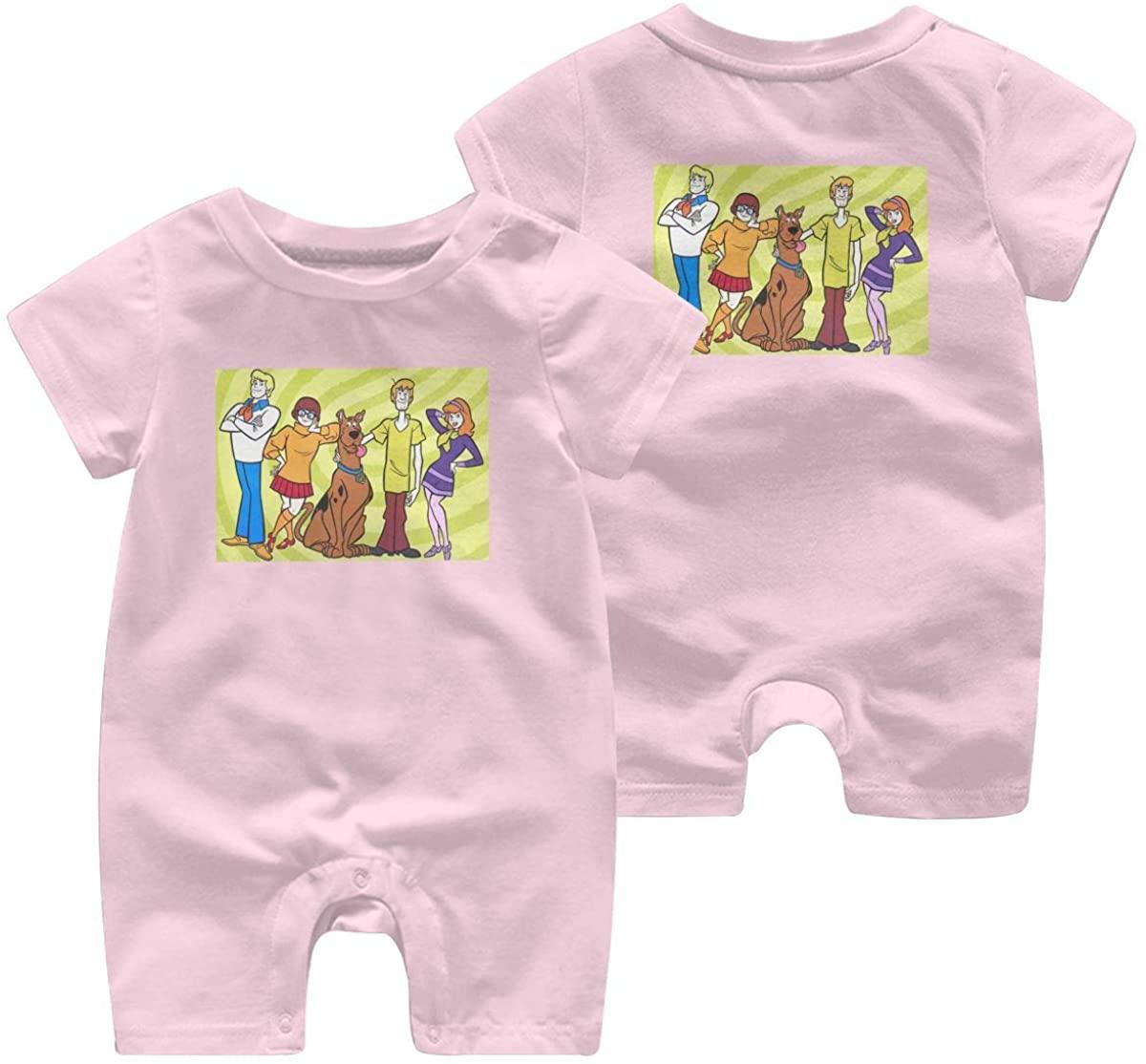 Scooby-Doo Leisure Baby Short Sleeve Jumpsuit Kid Breathable Baby Pajama Sleeper Cotton Romper