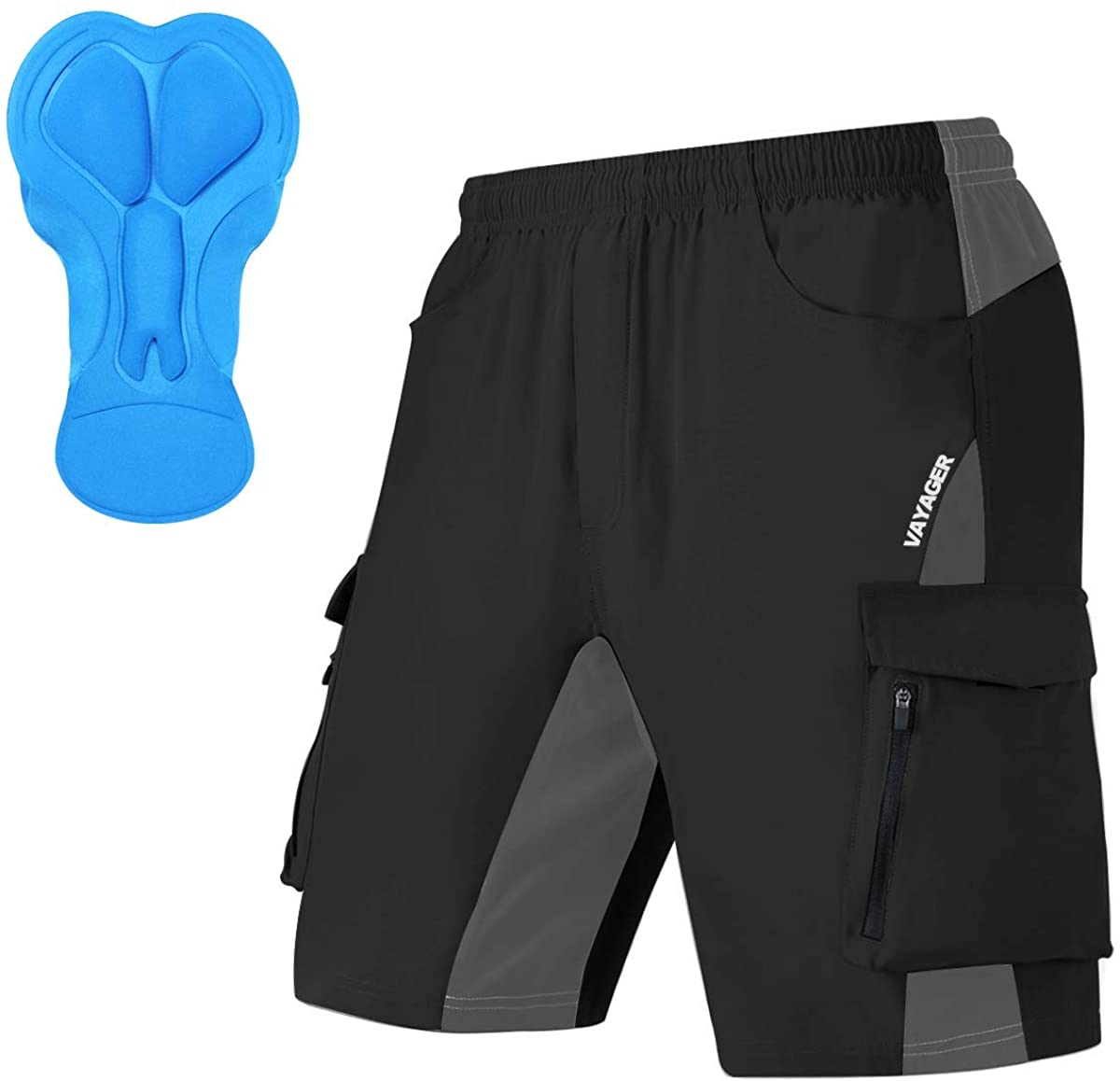 Men's Mountain Bike Shorts 3D Padded Bicycle MTB Shorts Loose-fit Lightweight MTB Cycling Shorts