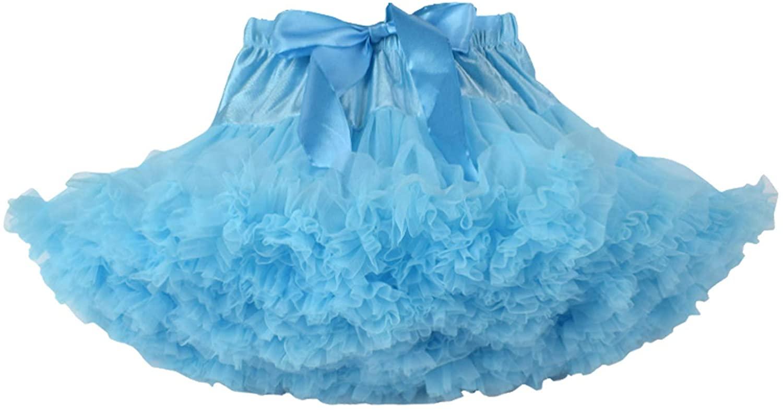 Joygown Baby Little Girls Elastic Waist Multi-Layer Tulle Tutu Skirt Petticoat