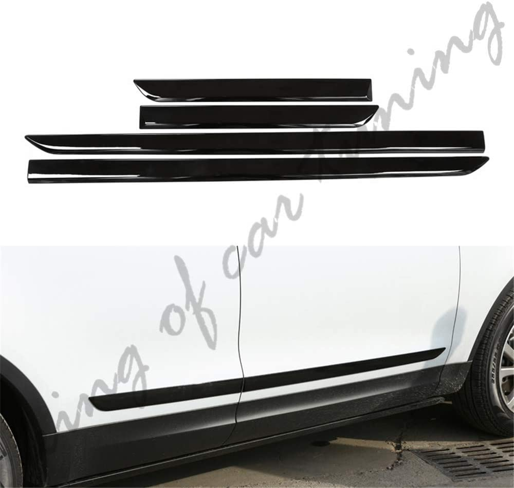 king of car tuning Side Door Sill Trim Bar Protector Fits for Land Rover Discovery 5 L462 2017 2018 2019 2020
