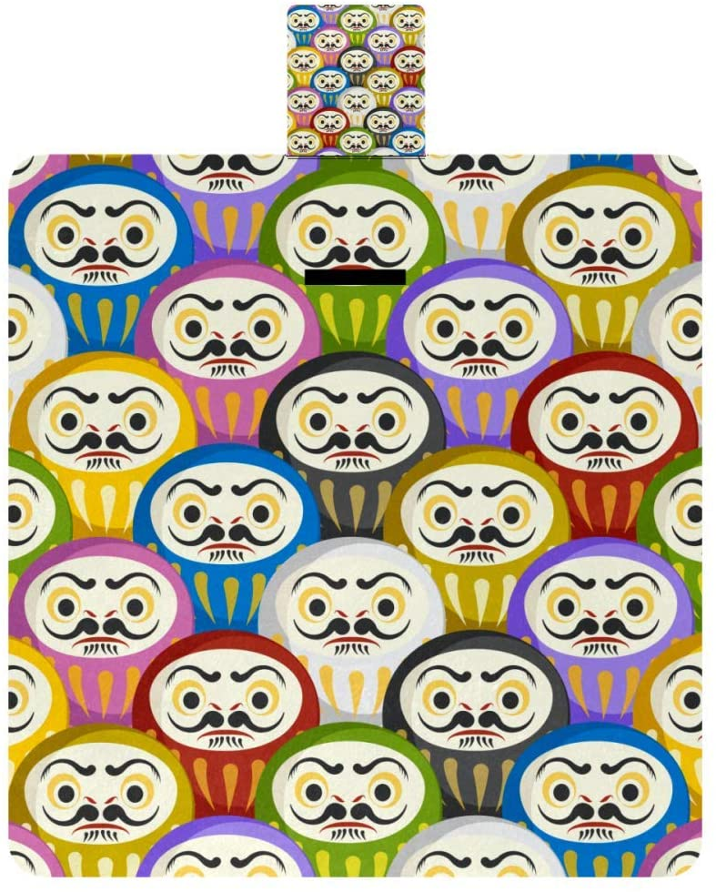 MAPOLO Traditional Japanese Daruma Dolls Picnic Blanket Waterproof Outdoor Blanket Foldable Picnic Handy Mat Tote for Beach Camping Hiking
