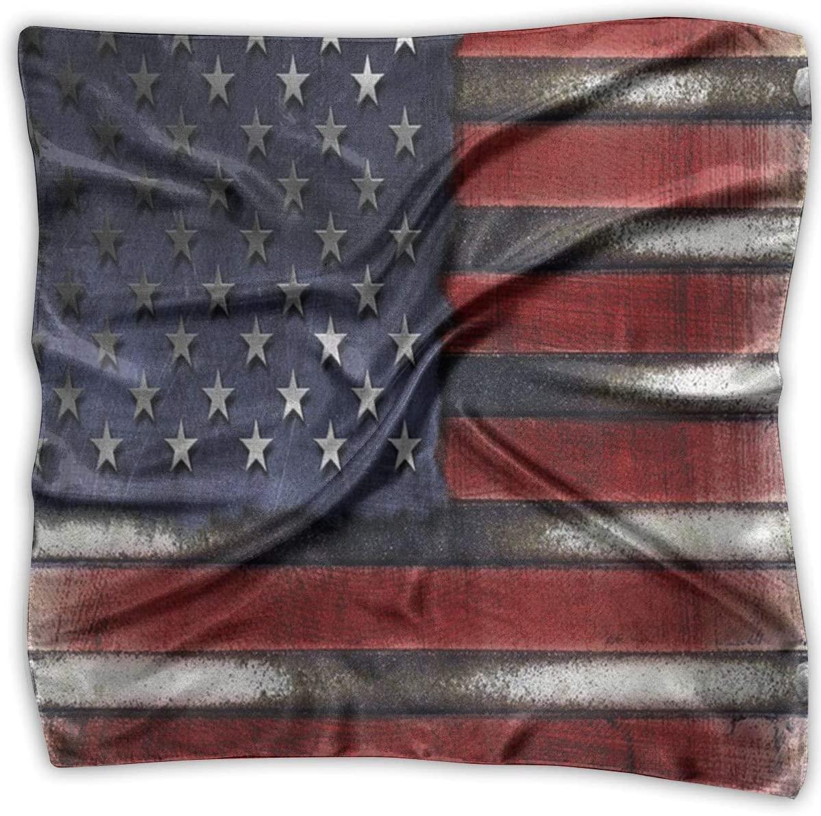 WFIRE Retro American Flag Square Handkerchiefs Scarf Shawl Bandanas Headscarf Neckerchief