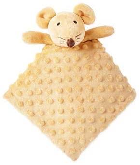 Okie Dokie Plush Baby Toy Security Blanket Snuggle Buddy (Mouse)