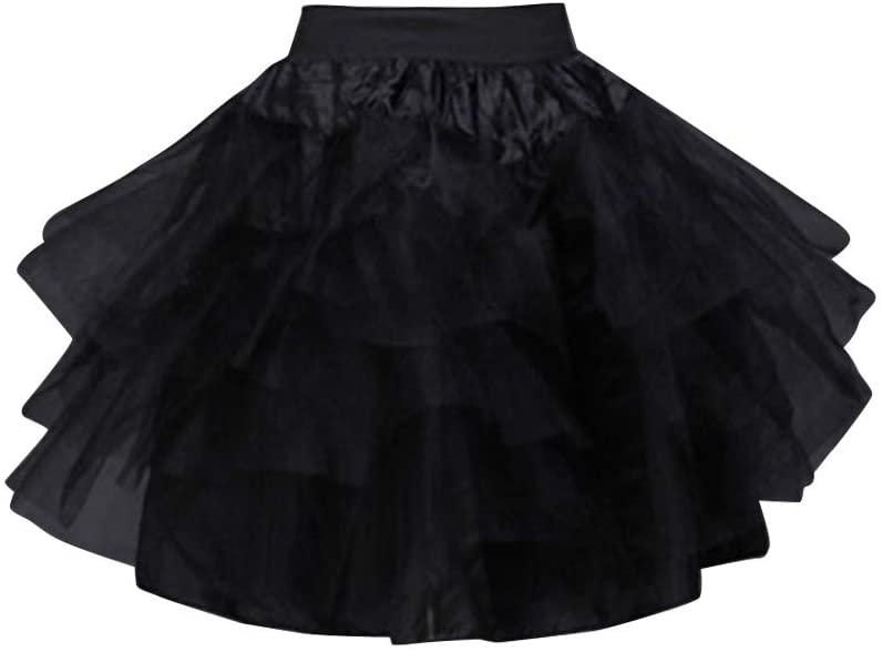 KESYOO Wedding Flower Children Petticoat Tutu Skirt Crinoline Boneless Short Skirt Brace Soft Kids Petticoat for Girl Wearing Black Size 35cm Length