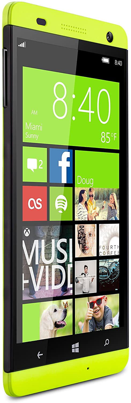 BLU Win HD 5-Inch Windows Phone 8.1, 8MP Camera Unlocked Cell Phones - Yellow