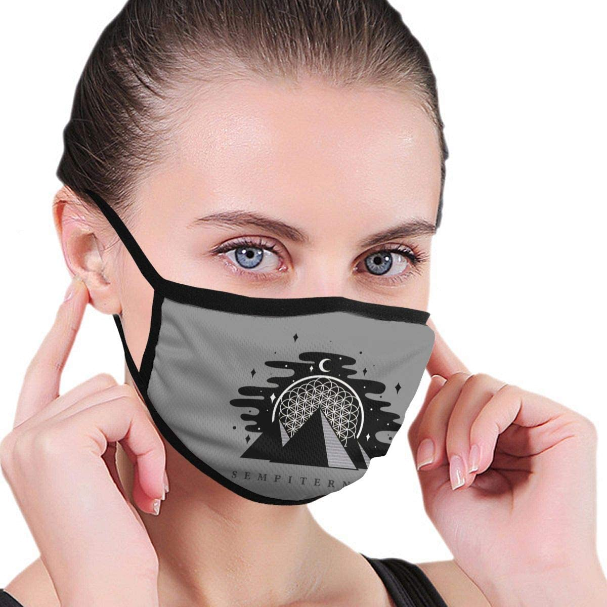 Zhengyu Bring Me The Horizon Face Mouth Protect Comfy Breathable Safety Air Fog Outdoor Fashion Half Face Face Protections - for Man and Woman