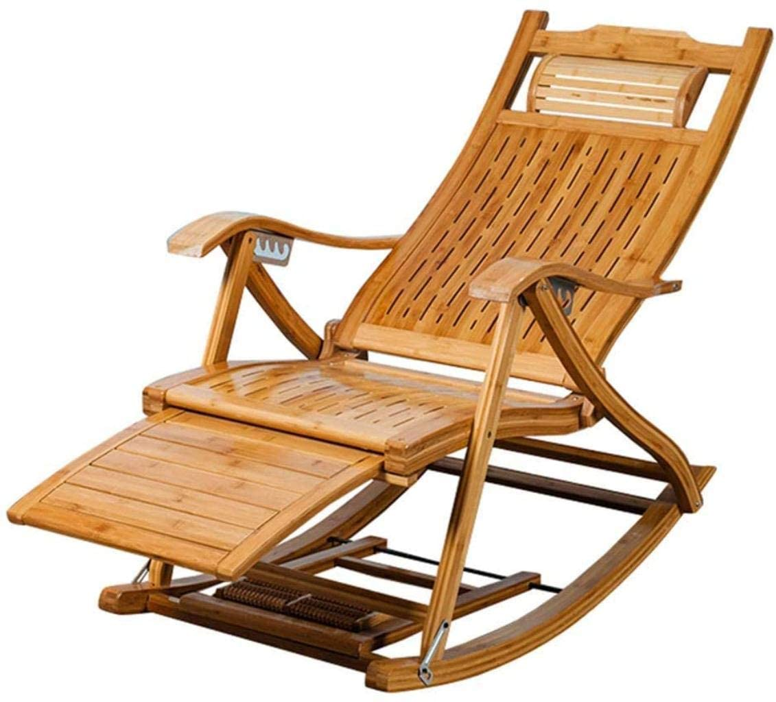 DIMPLEYA Relax-Chair Sun-Loungers Rocking Chair for Adult Child in Garden Balcony Living Room Foldable Outdoor Recliners Sunbed Garden Chair Max. 150kg