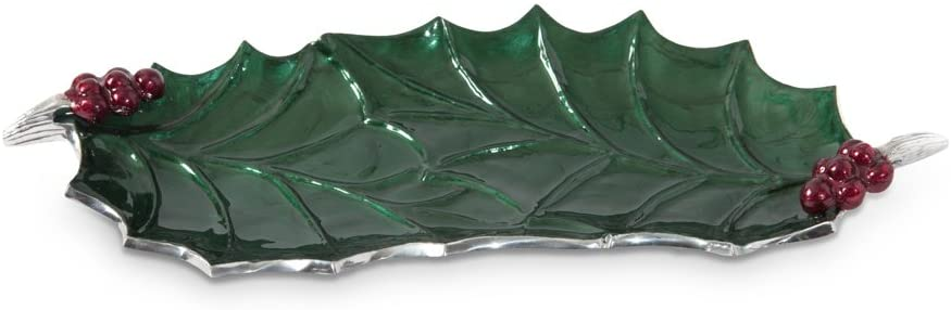 Julia Knight Holly Sprig Large Platter, One Size, Emerald