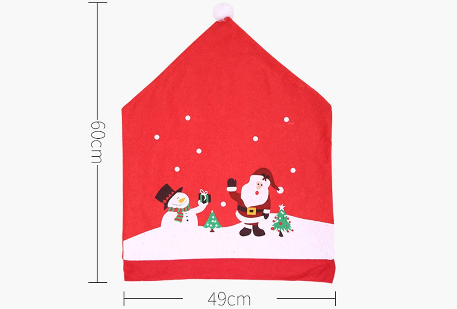 GORGEOU New Christmas New Non-woven Chair Cover Cartoon Old Man Snowman Stool Cover Christmas Big Hat
