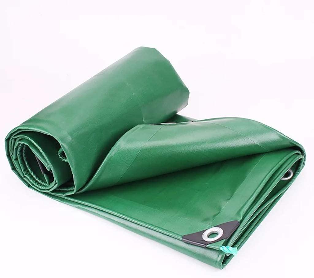 HOMRanger Green Industrial Polster Yarn PVC Coated Waterproof Cloth Double-Sided Waterproof Sunshade Tarpaulin. (Size : 34m)