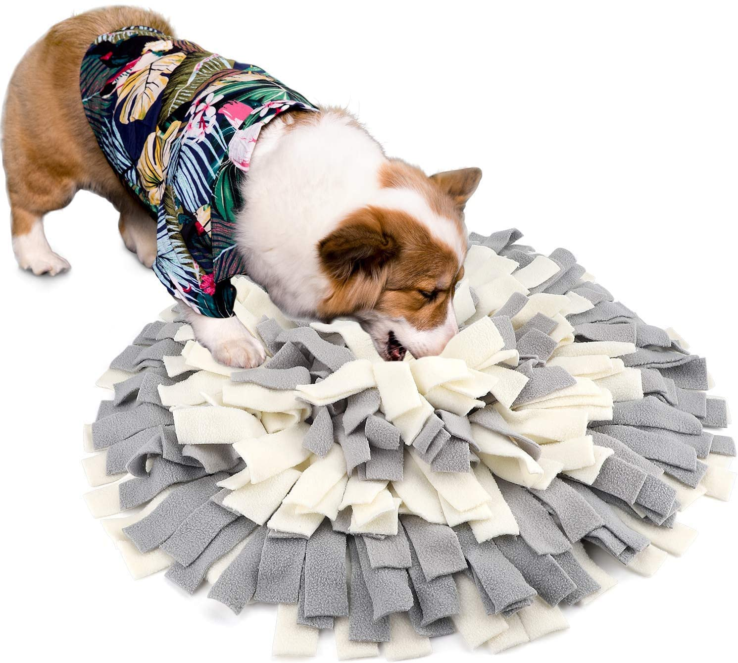 KISSIN Dog Snuffle Mat Thicken Polar Fleece Dog Food Mat Encourages Anxious Dogs Natural Foraging Skills Dog Puzzle Toys