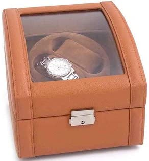 Fahrney's Exclusive Leather Watch Winder - Double Slot (Tan)
