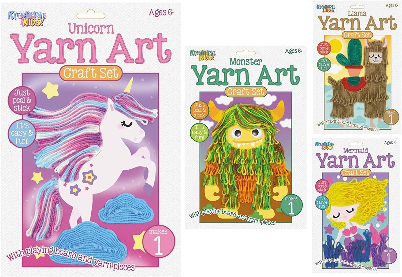 Kreative Kids Pk of 4 Yarn / Wool Art Craft Sets