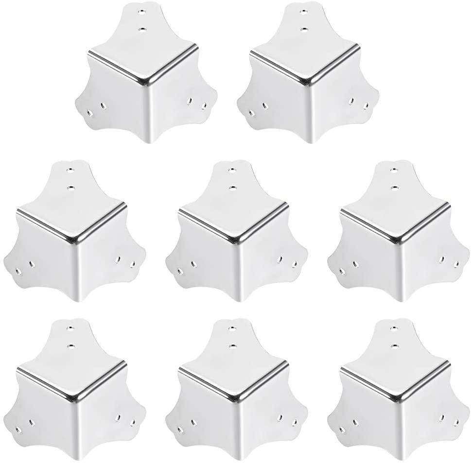 uxcell Metal Box Corner Protectors Wooden Box Edge Guard Protector 44 X 44 X 44mm 8pcs