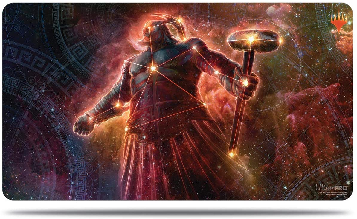 Theros: Beyond Death - Purphoros, Bronze-Blooded Alt Art Playmat for Magic: The Gathering