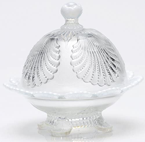 Butterdish - Shell - Crystal French Opalescent Glass - Mosser USA