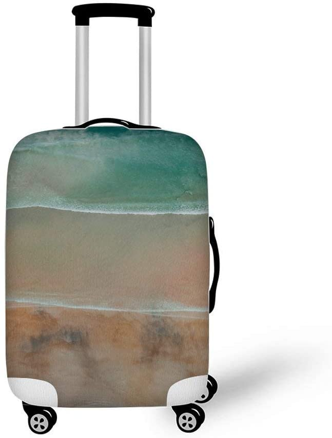 Abstract Beach Beautiful Fashionable Baggage Suitcase Protector Travel Luggage Cover Anti-Scratch