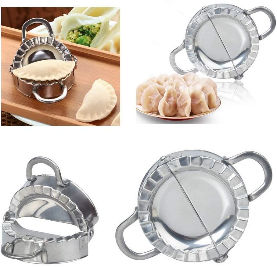 XBYEE Dumpling Mold Set and Cutter - Dumplings Maker Machine Dumpling Mold Set Stainless Steel, Chinese Dumpling Cutter Pie Ravioli Empanadas Press Mold