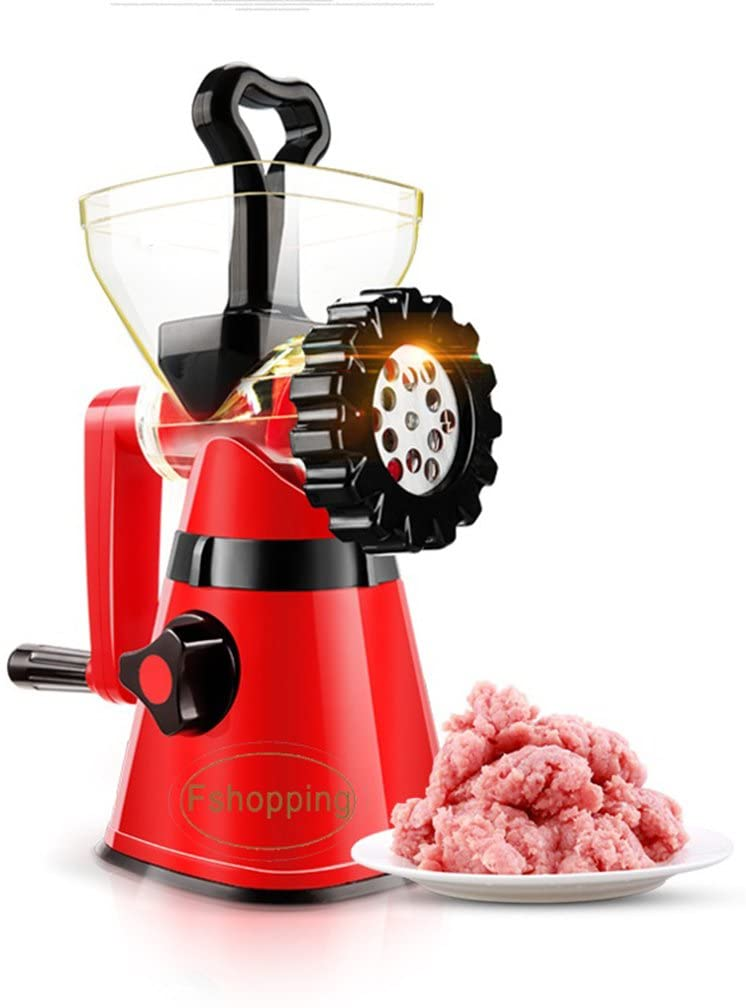Fshopping hand crank meat mincer grinder with powerful suction base sausage maker multiple purpose