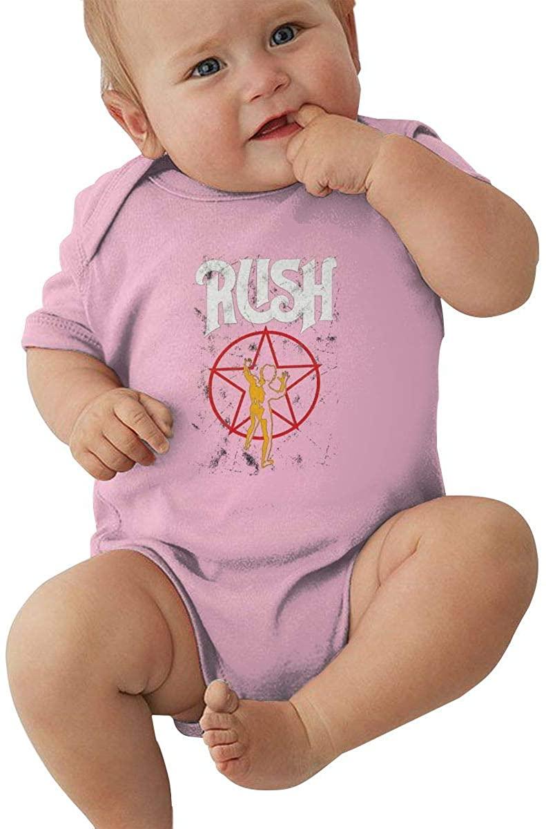 SOSOCUTE Black Baby Onesie Rush Band Logo Funny Crawling Clothes