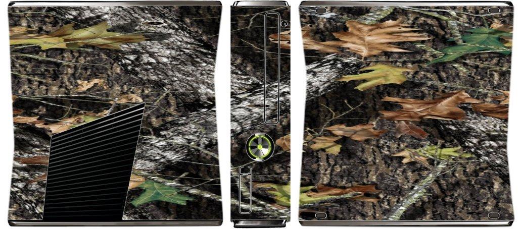 Mossy Oak Pattern Camo Vinyl Decal Sticker Skin by MWCustoms for Xbox 360 Slim (2010)