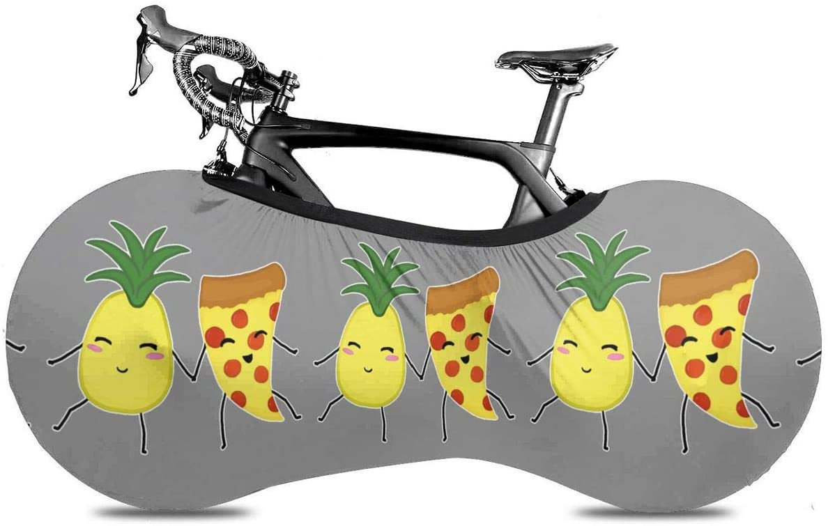 KLQ Pineapple and Pizza Bike Dust Cover Bicycle Wheel Protective Case