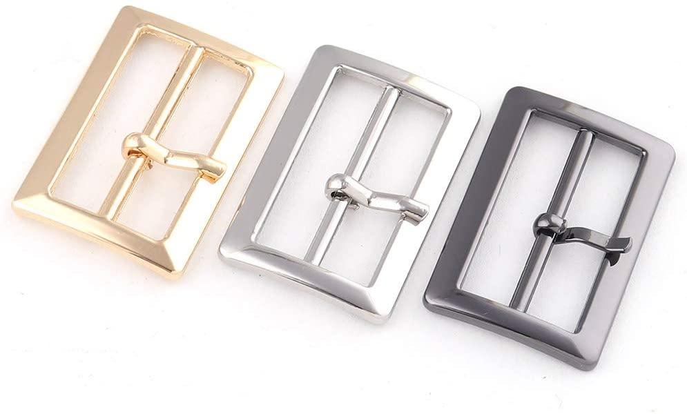 25mm Gold Adjuster Buckle Slide Buckles,Metal Purse Backpack Buckle,Belt Buckle Handbag Webbing Hardware,Bag Clasp Luggage Strap Buckle 15pcs (Silver)