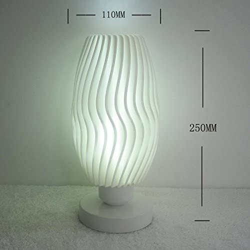 Creative stylish lamps minimalist modern energy-saving bedroom bedside lamp decor personalized Mini lamp mini light, white light button switch