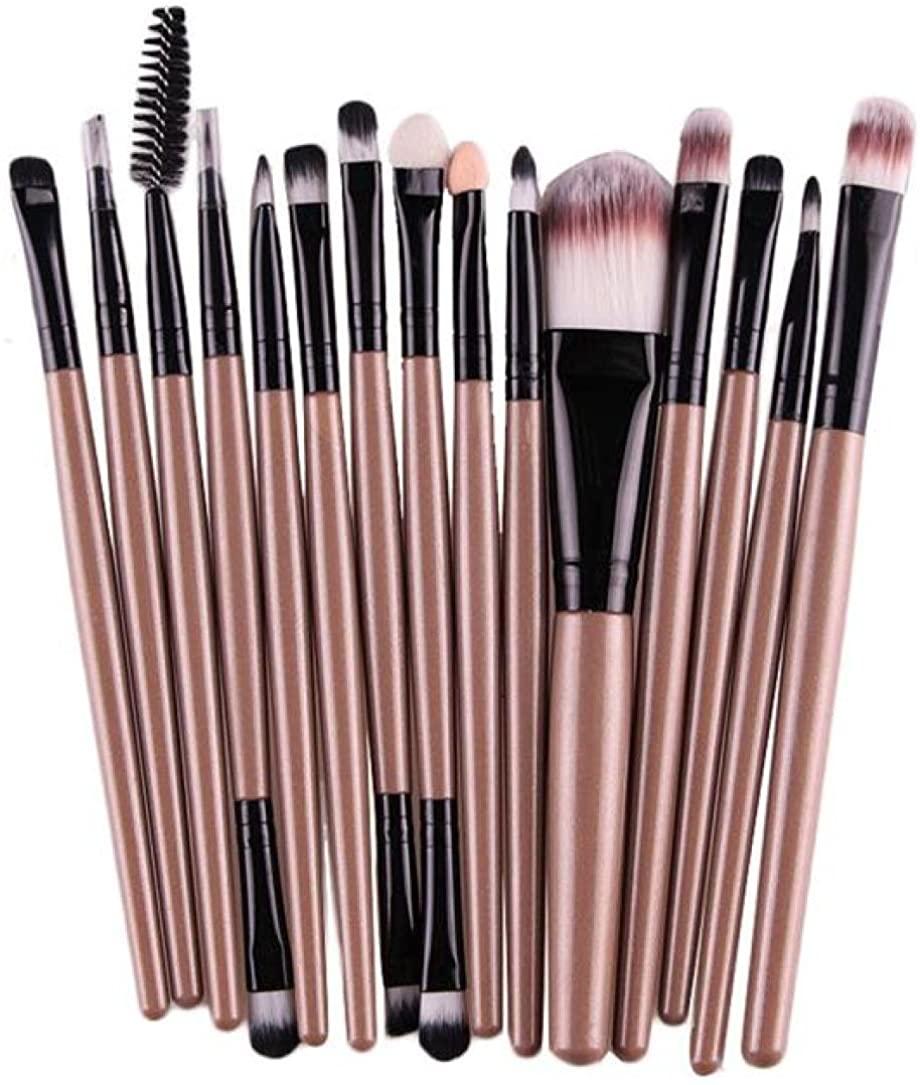 Makeup Brushes, 15 pcs/Sets Eye Shadow Foundation Eyebrow Lip Brush Makeup Brushes Tool