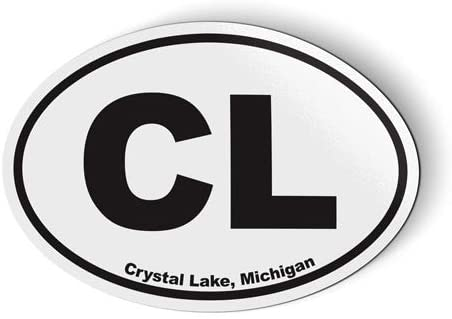 Stickers & Tees CL Crystal Lake Michigan Oval - Car Magnet - 5
