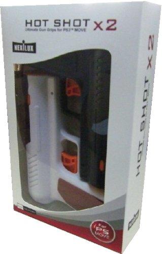 PS3 MOVE HOT Shot Ultimate Gun X2 DUO Twin Pack Black/white