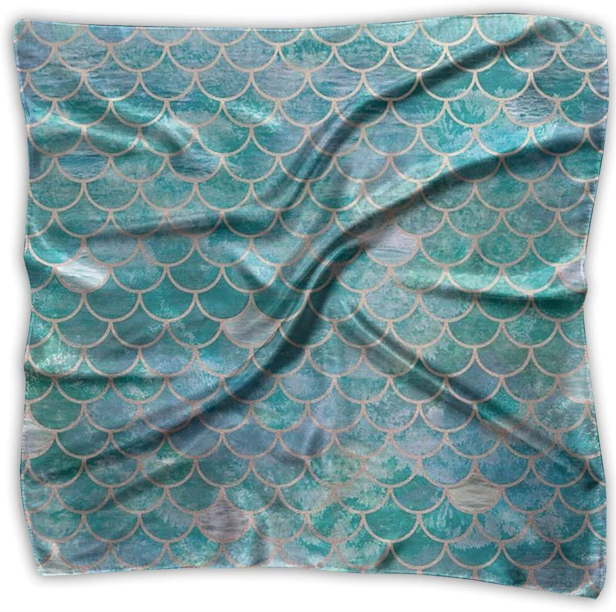 WFIRE Fish Scale Print Square Handkerchiefs Scarf Shawl Bandanas Headscarf Neckerchief