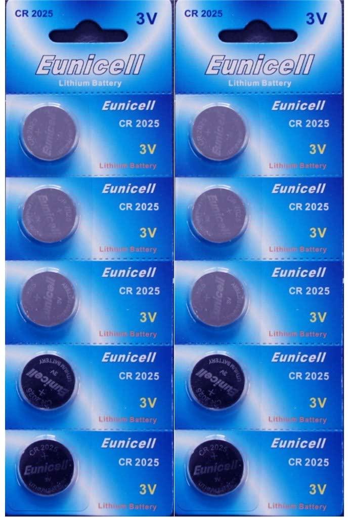 Eunicell 10 x CR2025 3V Lithium Batteries BR2025 DL2025 KCR2025