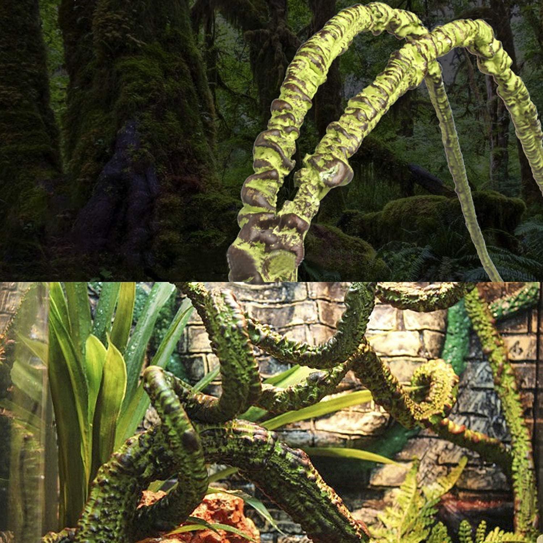Sockeroos Jungle Vines FlexibleReptile Habitat Décor for Climbing, Lizards, Chameleon, Gecko, Branching Design