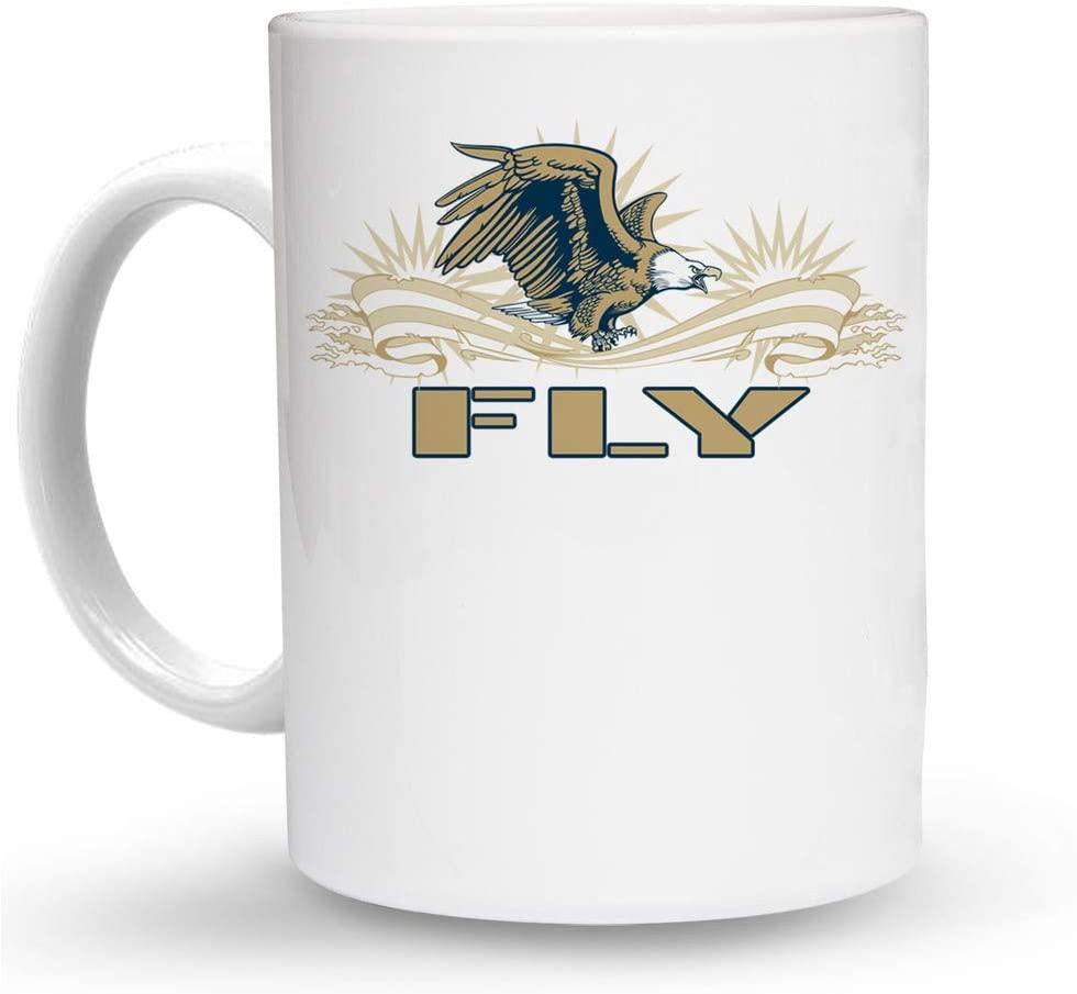 Makoroni - FLY Aviation Pilot 6 oz Ceramic Espresso Shot Mug/Cup Design#64