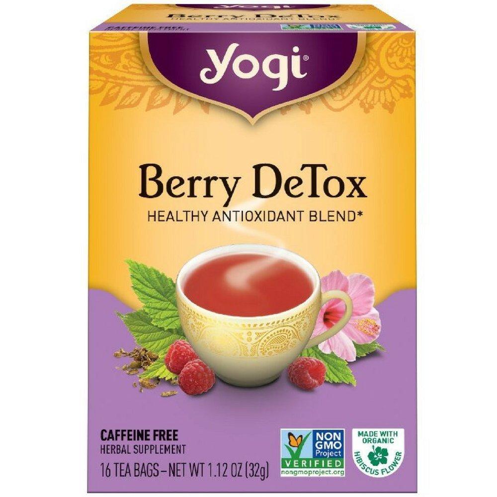 Yogi Herbal Tea Bags, Berry DeTox 16 ea ( pack of 4)