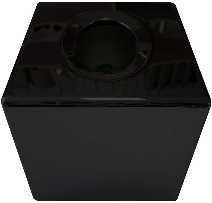 DENPETEC Box Organizer Accessories Desk Kitchen Bathroom Home Storage Holder ABS Plated Paper Modern Table Bedroom Square