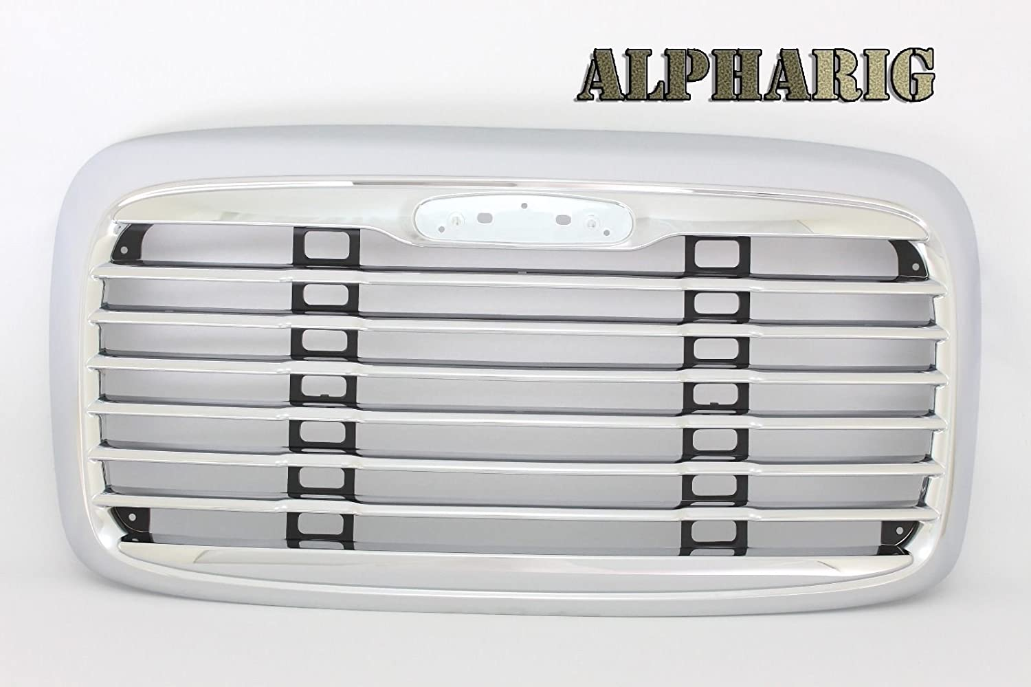 XS-Power AlphaRig 2002-2011 FREIGHTLINER COLUMBIA CHROME BLACK GRILL WITHOUT BUG SCREEN