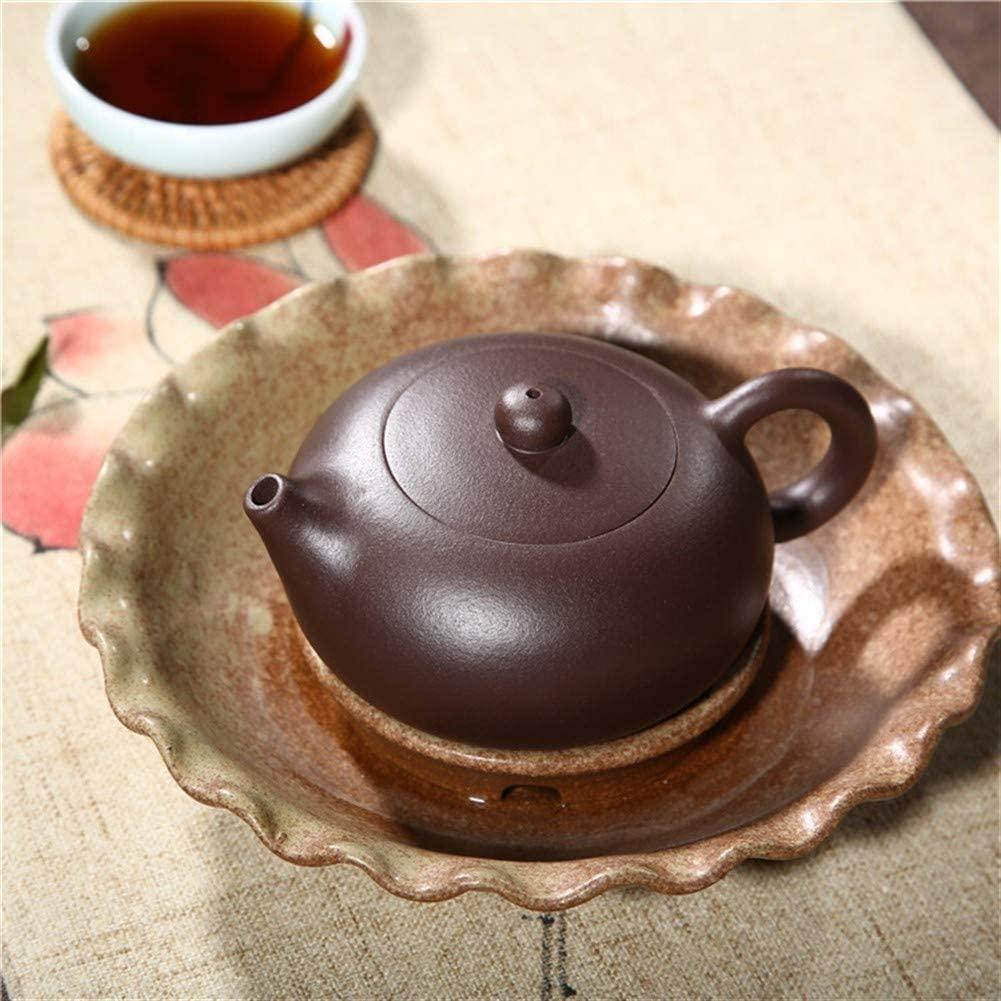 SHENLIJUAN Purple ball of mud hole flat West Shi teapot tea quality (Color : Purple mud)