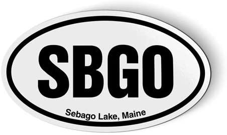 Stickers & Tees SBGO Sebago Lake Maine Oval - Car Magnet - 5