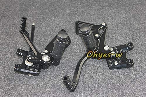 Frames & Fittings Black Adjustable Rear Sets Motorcycle Foot Pegs for GSX-R1000 (00-04) GSX-R750/600 (96-05) SV650/S k1-k4 Universal