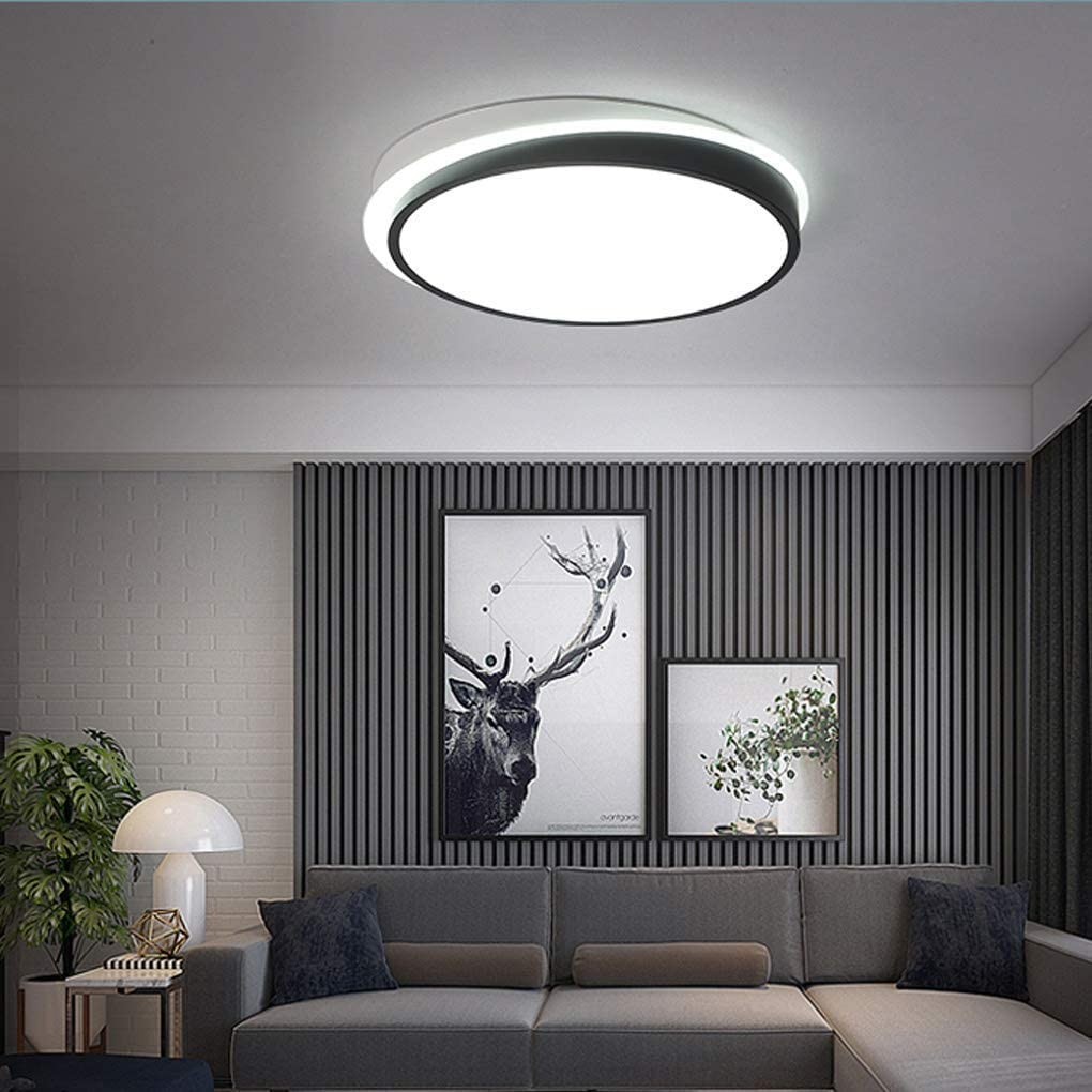 BOSSLV Remote Control Ceiling Light Modern Round Iron Acrylic Ceiling Lamp Severe Led 44W Bedchamber Ceiling Lighting Minimalism Parlor Dining Hall Study Indoor Lighting 45Cm H9Cm