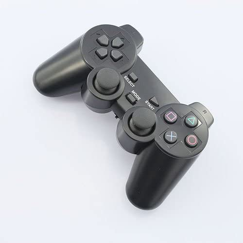 2.4GHZ Wireless Vibration Gamepad for PS3 PS2 PC Black