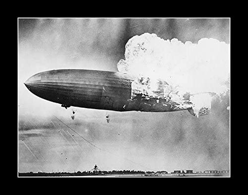 8 x 10 All Wood Framed Photo Hindenburg Disaster