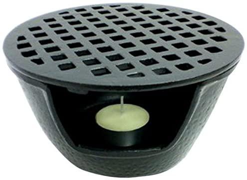 JapanBargain 1988, Cast Iron Teapot Warmer for Tea Pot Kettle Tetsubin, 5.5 inch, Black