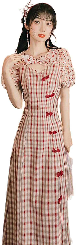 Qipao 2020 Chinese Dress Satin Lady Traditional Chinese Style Cheongsam Dresses Women Mandarin Collar Dress
